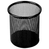 十杰 9172 网状圆笔筒(黑)